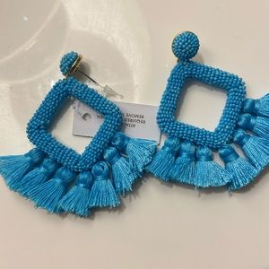 Baublebar blue beaded fringe earings